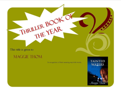 Tainted Waters - Thriller book of the year - Turning the Pages Books 240x176