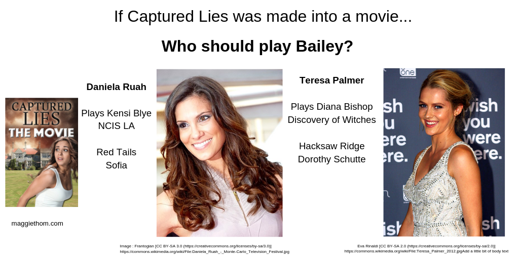 If Captured Lies were a Movie, Who'd Play Bailey?